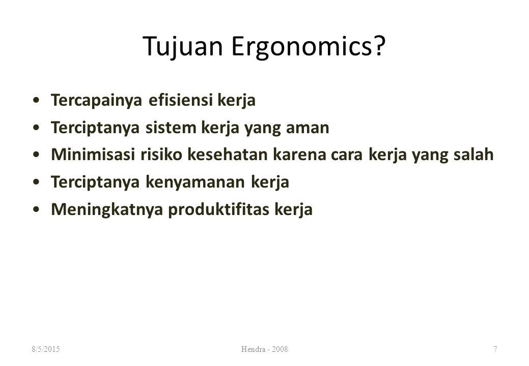 Tujuan Ergonomics.