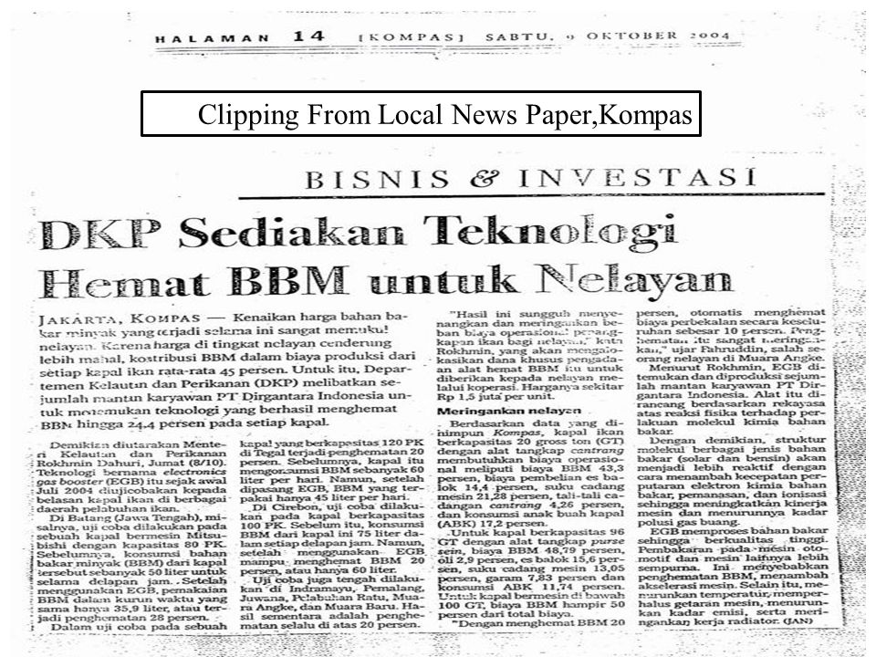 Clipping From Local News Paper,Kompas