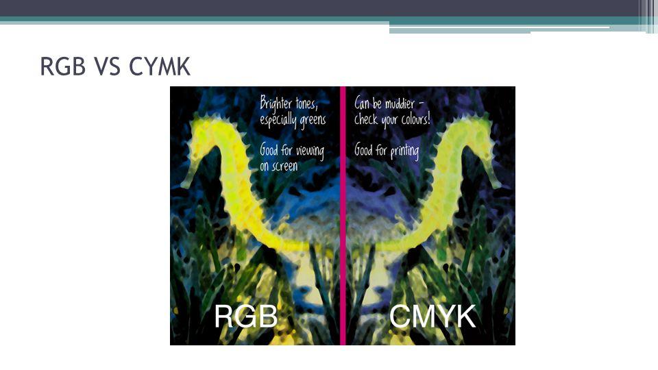 RGB VS CYMK