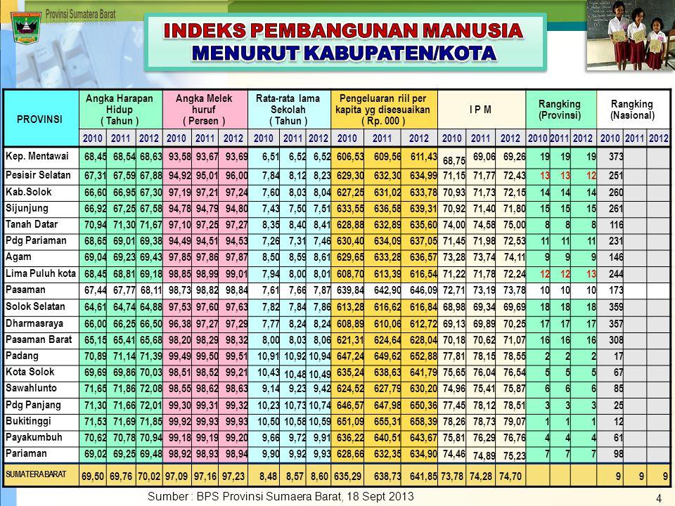 Indikator Kinerja Peningkatan (2005-2008) Per Tahun % Perubahan 20112012201320142015 1.