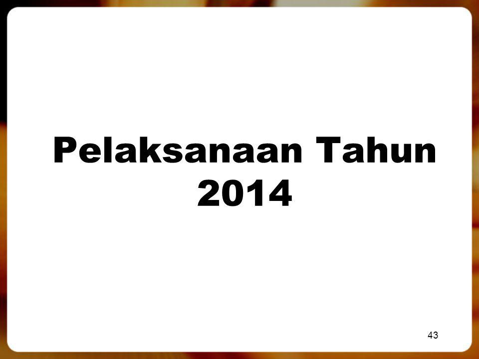 Pelaksanaan Tahun 2014 43