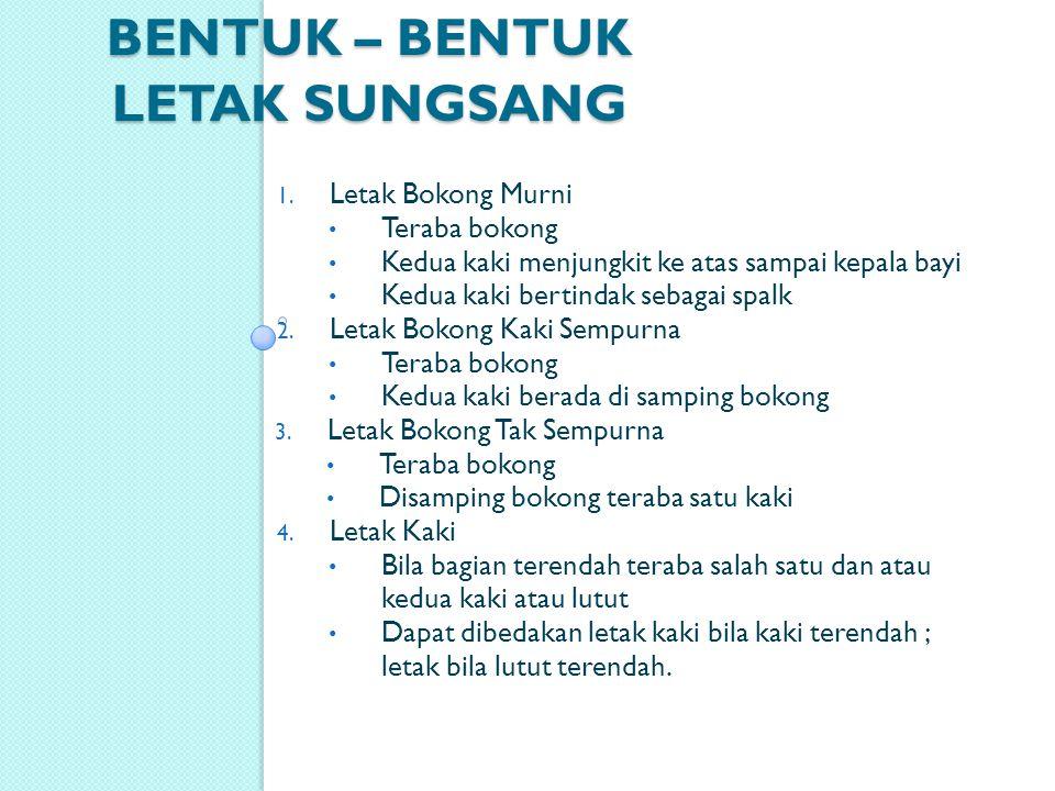 BENTUK – BENTUK LETAK SUNGSANG 1.