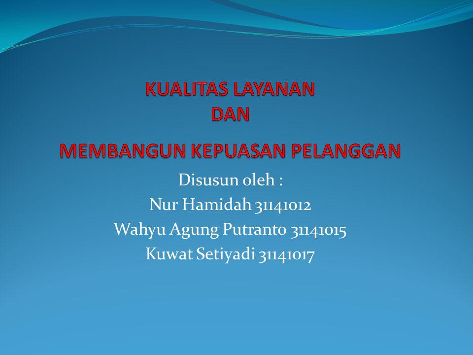 Disusun oleh : Nur Hamidah 31141012 Wahyu Agung Putranto 31141015 Kuwat Setiyadi 31141017
