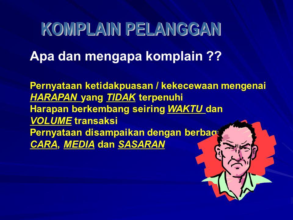 Apa dan mengapa komplain ?.
