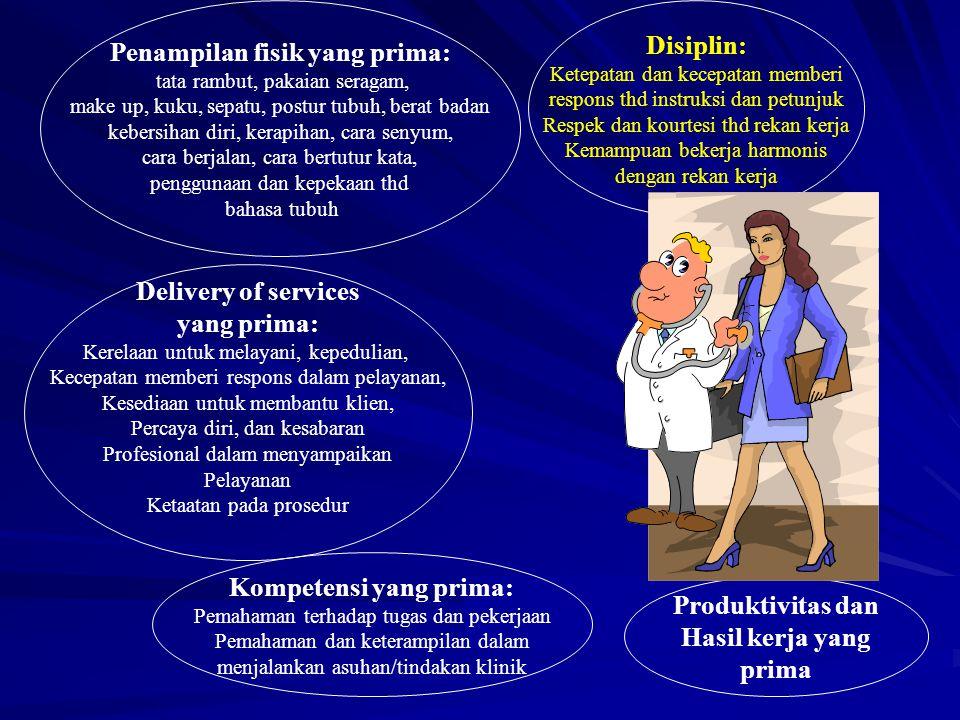 Disiplin: Ketepatan dan kecepatan memberi respons thd instruksi dan petunjuk Respek dan kourtesi thd rekan kerja Kemampuan bekerja harmonis dengan rek