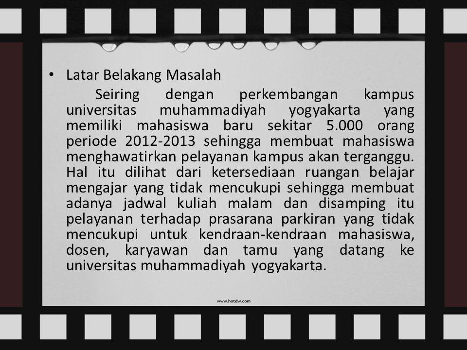 ANALISIS PENGARUH KUALITAS PELAYANAN TERHADAP KEPUASAN KONSUMEN / MAHASISWA UMY ( Studi kasus Pada Universitas Muhammadiyah Yogyakarta )