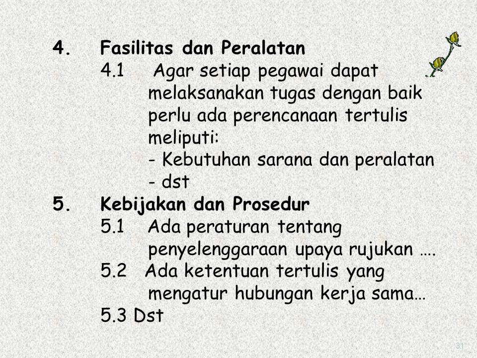 3. Staf dan Pimpinan Ada pelimpahan wewenang secara tertulis dari pemilik RS kepada pimpinan untuk mengelola RS dengan baik meliputi: 3.1 Hubungan ker