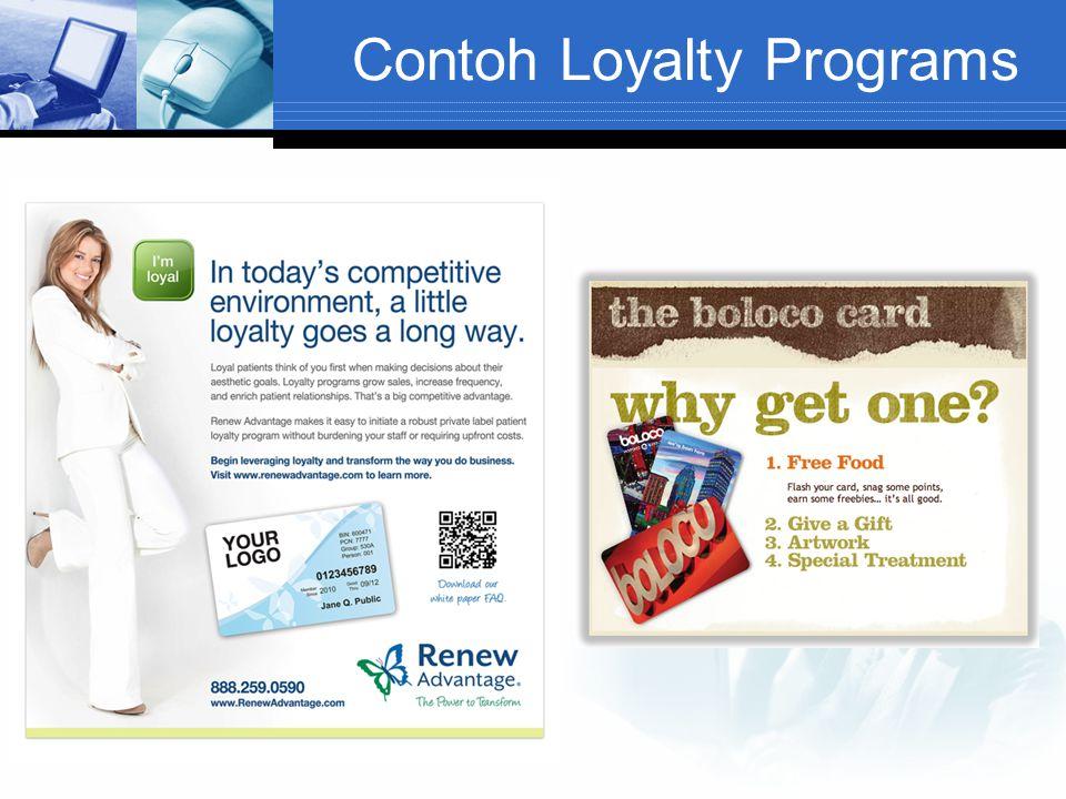 Contoh Loyalty Programs
