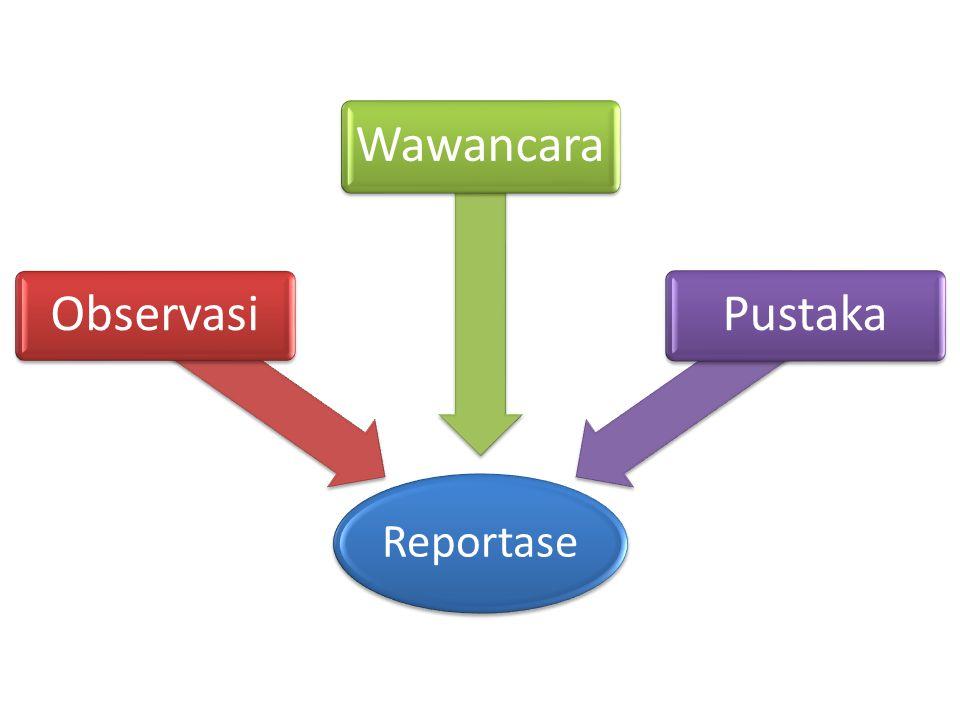Reportase Observasi Wawancara Pustaka