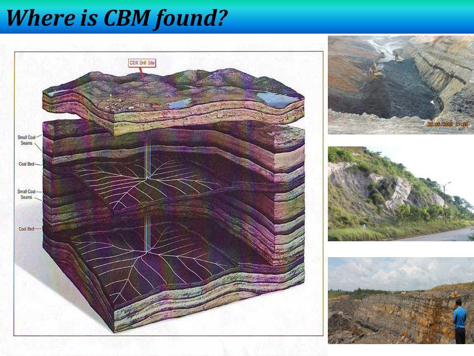Where is CBM found?