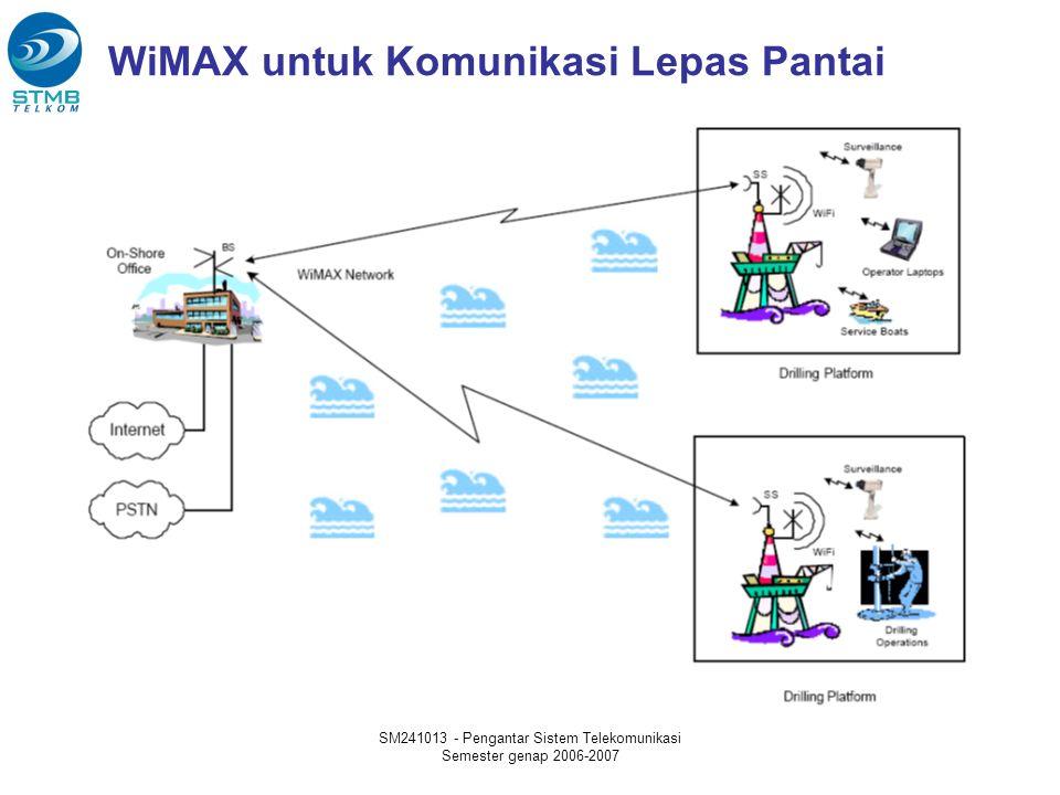 SM241013 - Pengantar Sistem Telekomunikasi Semester genap 2006-2007 WiMAX untuk Komunikasi Lepas Pantai