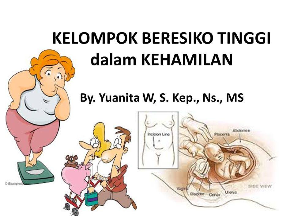 By. Yuanita W, S. Kep., Ns., MS KELOMPOK BERESIKO TINGGI dalam KEHAMILAN