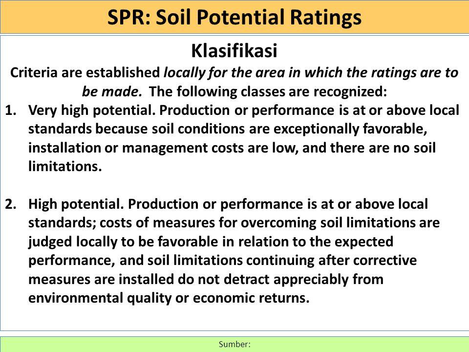 SOIL INTERPRETATIONS RATING GUIDES (430-VI-NSSH, 1993) http://www.itc.nl/~rossiter/Docs/NRCS/620nsh.pdf (g) Lawns, landscaping, and golf fairways.
