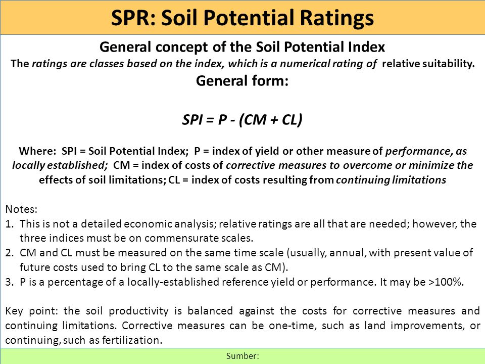 SOIL INTERPRETATIONS RATING GUIDES (430-VI-NSSH, 1993) http://www.itc.nl/~rossiter/Docs/NRCS/620nsh.pdf Suitability ratings.
