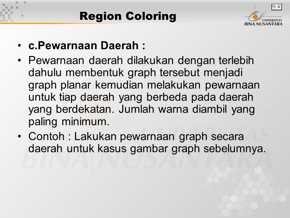 Edge Coloring Problem (2) Pewarnaan rusuk untuk graph lengkap (Kn).