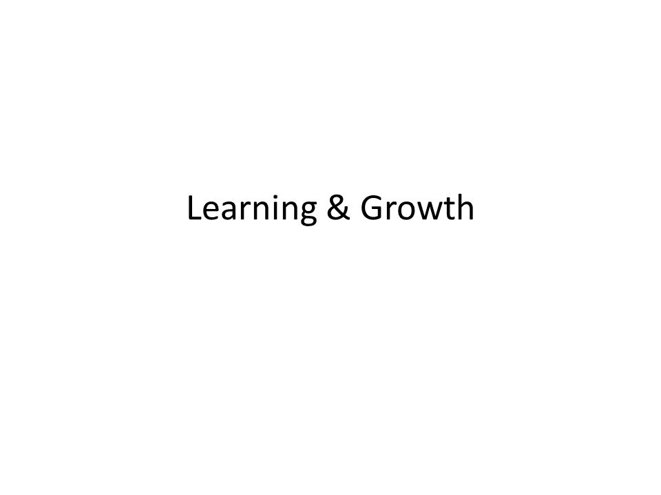 Learning & Growth