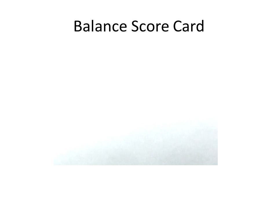 What is the balanced scorecard?