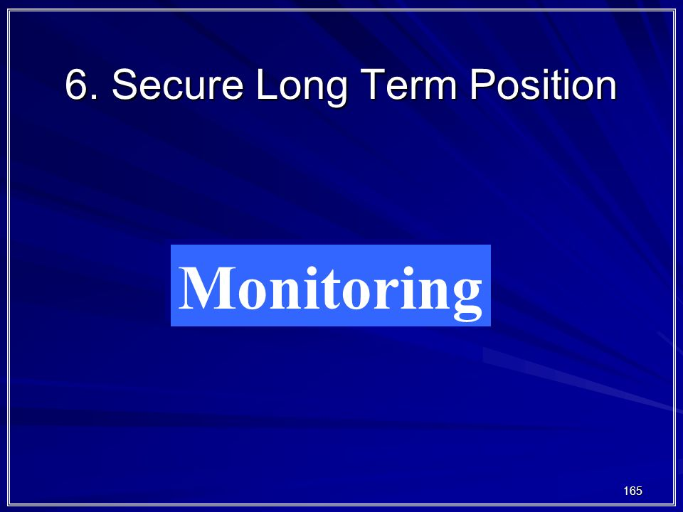 165 6. Secure Long Term Position Monitoring