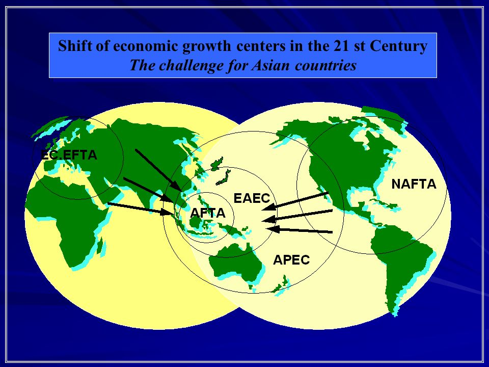 Shift of economic growth centers in the 21 st Century The challenge for Asian countries