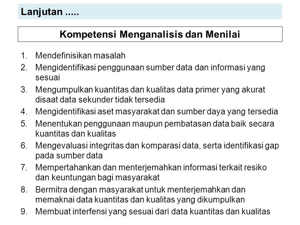 1.Mendefinisikan masalah 2.Mengidentifikasi penggunaan sumber data dan informasi yang sesuai 3.Mengumpulkan kuantitas dan kualitas data primer yang ak