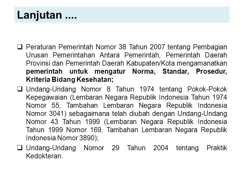  Peraturan Pemerintah Nomor 38 Tahun 2007 tentang Pembagian Urusan Pemerintahan Antara Pemerintah, Pemerintah Daerah Provinsi dan Pemerintah Daerah K