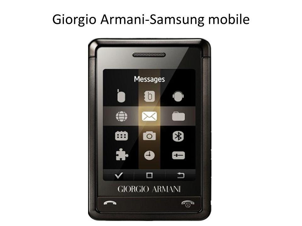 Giorgio Armani-Samsung mobile