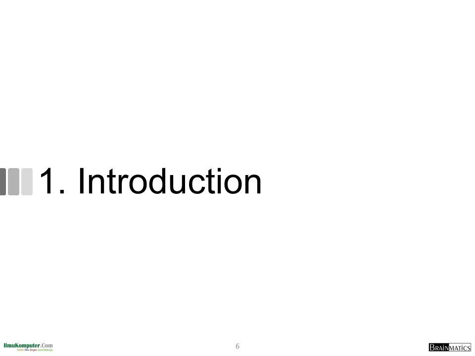 Percetakan Penerbit dan Distributor Buku Pearson Vue Prometrics Kryterion Online Food Court Software Development Certification Examination Training Center Kurikulum Internasional dan Customizable dengan Kebutuhan Ruang Kelas Nyaman dan Posisi di Tengah Kota Jakarta International Authorized Training and Testing Center Biaya Infrastruktur Honor Pengajar Gaji PegawaiBiaya Marketing Pegawai Online Market Brand IlmuKomputer.Com Brand Romi Satria Wahono Penjualan Jasa Training Email Instant Messaging (YM, WA, Line, BBM) Social Media (Kaskus, Facebook, Twitter) Staff IT Lembaga Pemerintahan Peserta Ujian Sertifikasi Lembaga Pendidikan Perusahaan Swasta Offline: Kegiatan Workshop dan Training Online: Social Media Participation, Situs Brainmatics.Com Brainmatics.Com Penjualan Produk Software Biaya Operasional Mahasiswa Pengajar dengan Kompetensi Terpadu Akademisi dan Industri Business Model Canvas Telepon Kurikulum Key Partners Key Activities Pengembangan Software dengan Metodologi Standard Internasional Value Propositions Key Resources Customer Relationships Channels Customer Segments Revenue Streams Cost Structure Dosen PT Brainmatics Cipta Informatika