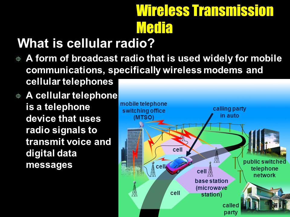 Wireless Transmission Media What is cellular radio.