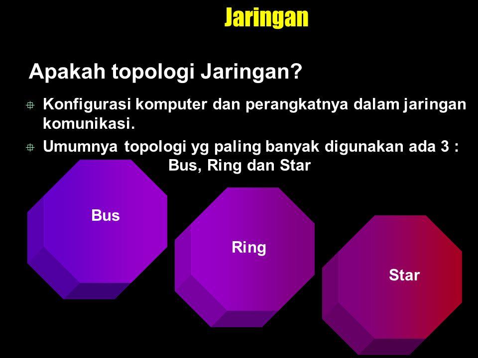 Jaringan Topologi Bus.