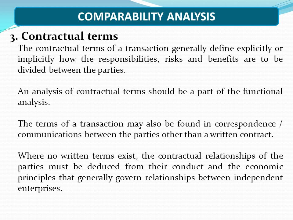 COMPARABILITY ANALYSIS 3.