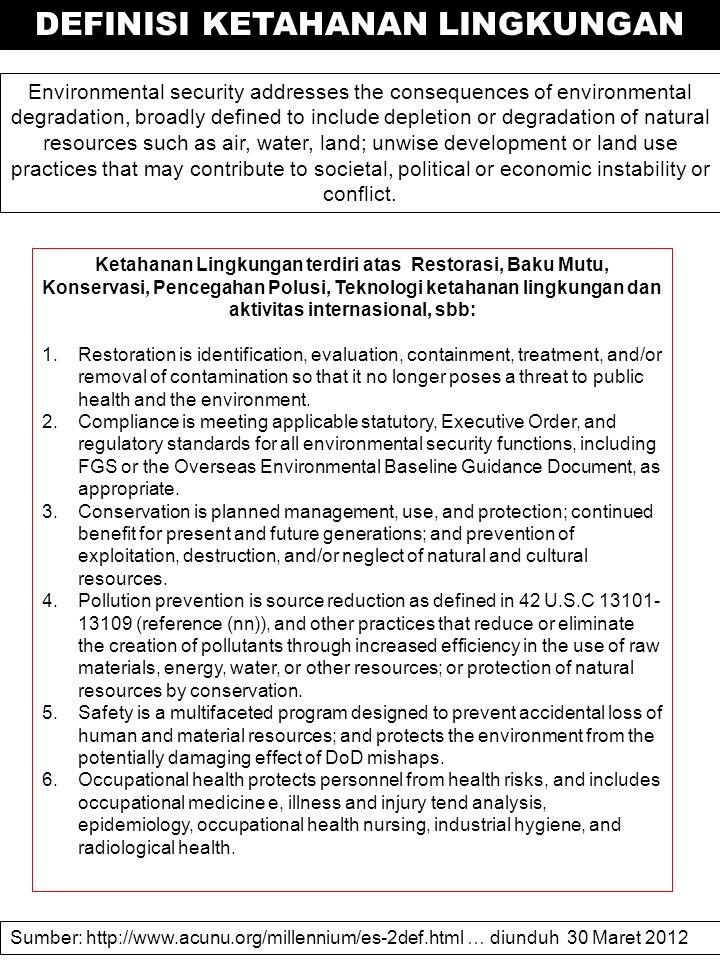 Country Environmental Analysis: Pilihan Memperluas Akses ke Tata Kelola Lingkungan Sumber: http://web.worldbank.org/WBSITE/EXTERNAL/COUNTRIES/EASTASIAPACIFICEXT/INDONESIAINBAHA SAEXTN/0,,contentMDK:22395126~pagePK:1497618~piPK:217854~theSitePK:447244,00.html… diunduh 31 Maret 2012 KELESTARIAN DAN KONSERVASI LINGKUNGAN Pemerin- tah 1.Bekerja bersama pemangku kepentingan lain dalam mengawasi dan menilai kinerja lembaganya dalam memenuhi akses ke informasi, partisipasi dan keadilan, serta mendorong adopsi kebijakan yang lebih menjamin pencapaiannya.