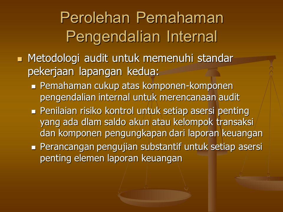 Perolehan Pemahaman Pengendalian Internal Metodologi audit untuk memenuhi standar pekerjaan lapangan kedua: Metodologi audit untuk memenuhi standar pe