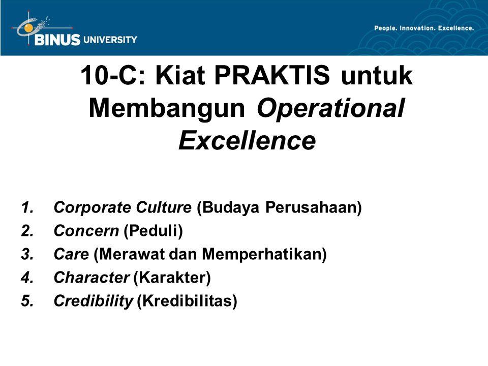 10-C: Kiat PRAKTIS untuk Membangun Operational Excellence 6.