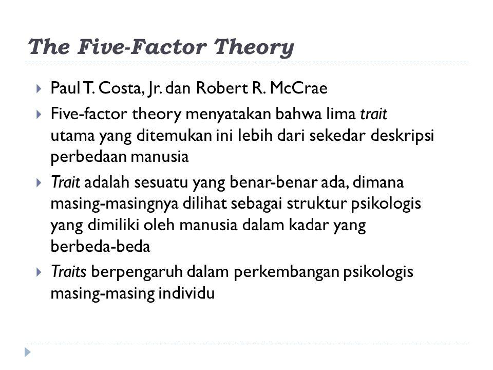 The Five-Factor Theory  Paul T.Costa, Jr. dan Robert R.