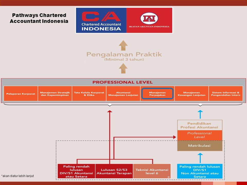 *akan diatur lebih lanjut Pathways Chartered Accountant Indonesia