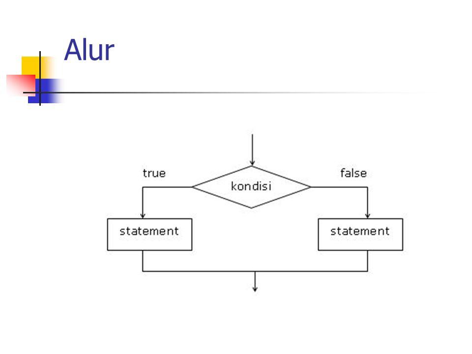 Bentuk Umum if(ekspresi logika) { statement... } else { statement... }
