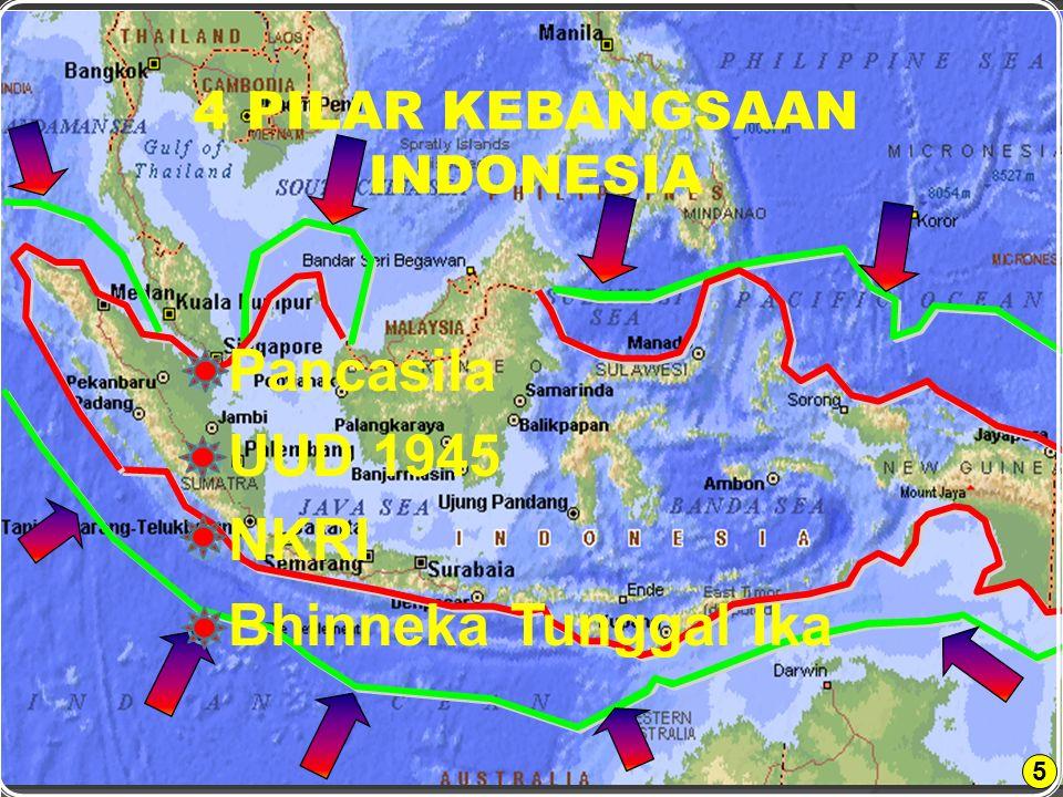 5  Pancasila  UUD 1945  NKRI  Bhinneka Tunggal Ika 4 PILAR KEBANGSAAN INDONESIA