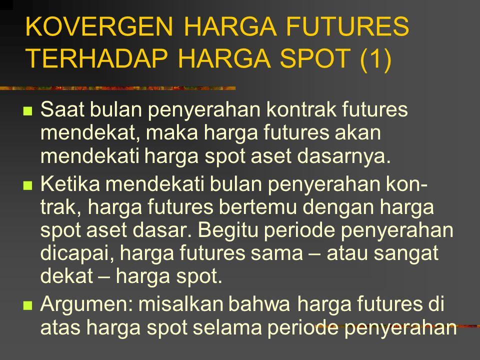 SPESIFIKASI KONTRAK FUTURES (7) Tujuan penentuan batas harga harian: untuk mencegah pergerakan harga besar yang terjadi karena ekses spekulasi. Batas-