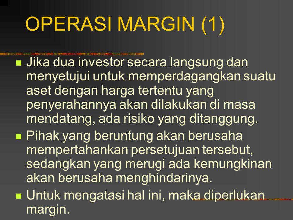 KOVERGEN HARGA FUTURES TERHADAP HARGA SPOT (2) Para pedagang akan mempunyai peluang arbitrasi: 1. Jual kontrak futures; 2. Beli aset; 3. Membuat penye