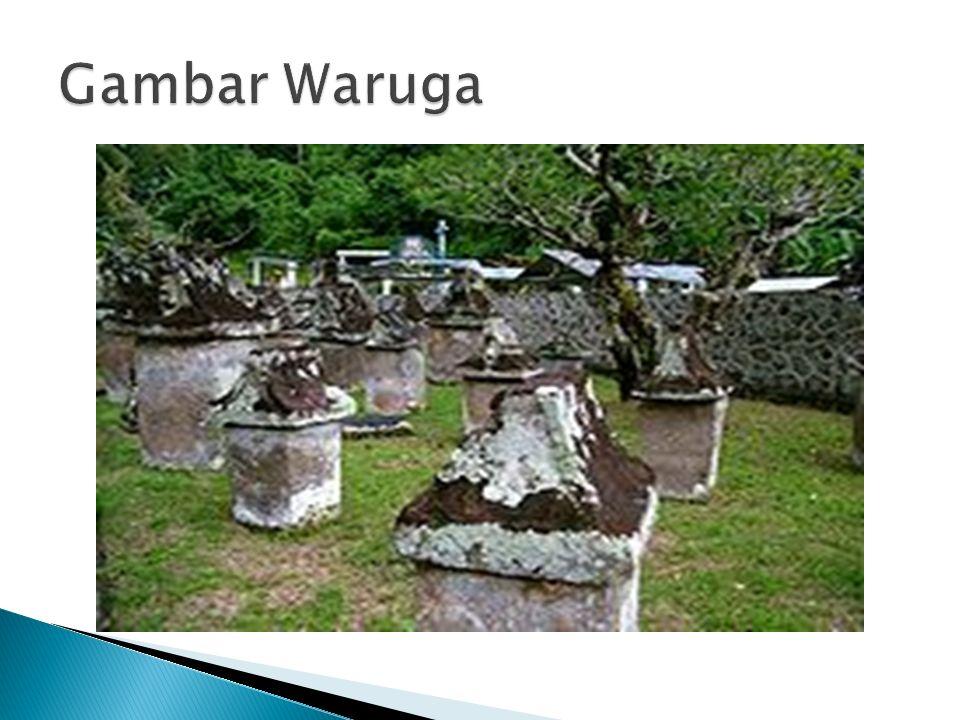  Waruga adalah kubur atau makam leluhur orang Minahasa yang terbuat dari batu dan terdiri dari dua bagian.