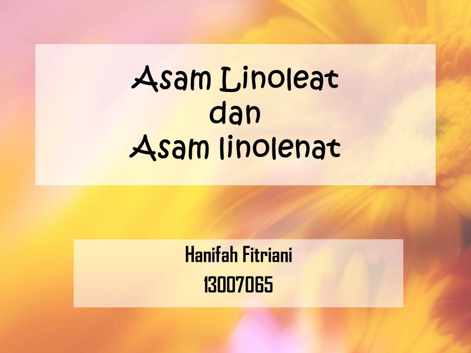 Asam Linoleat dan Asam linolenat Hanifah Fitriani 13007065
