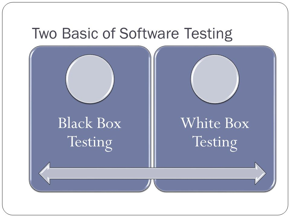 Two Basic of Software Testing Black Box Testing White Box Testing