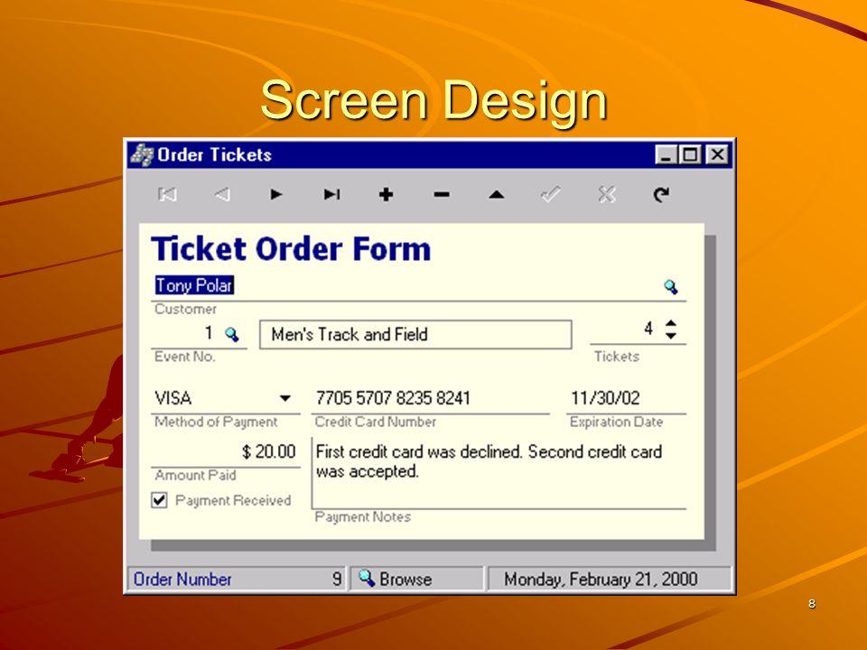 8 Screen Design