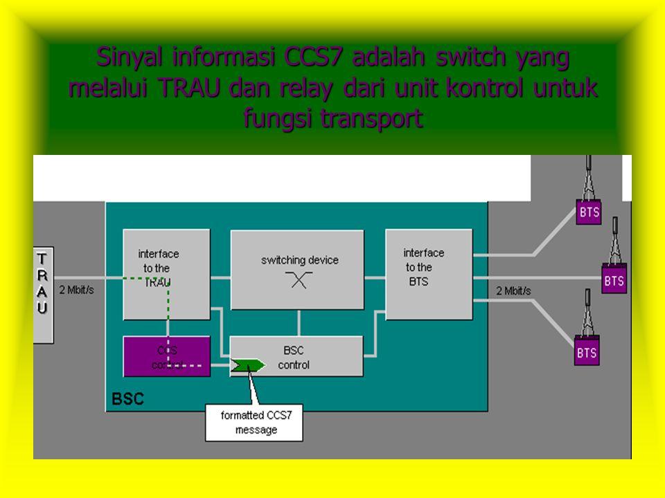  Base Station Controller (BSC) bertanggung jawab untuk mengontrol BTS dan merupakan administrasi sumber dan frekuensi radio.