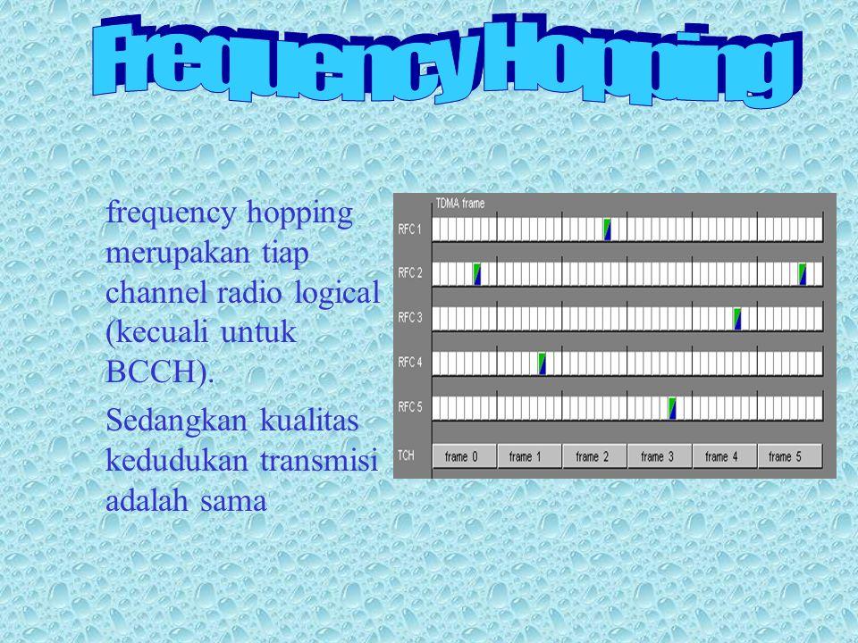 frequency hopping merupakan tiap channel radio logical (kecuali untuk BCCH).