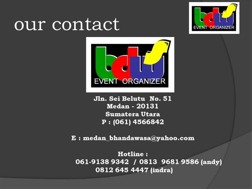 our contact Jln. Sei Belutu No.