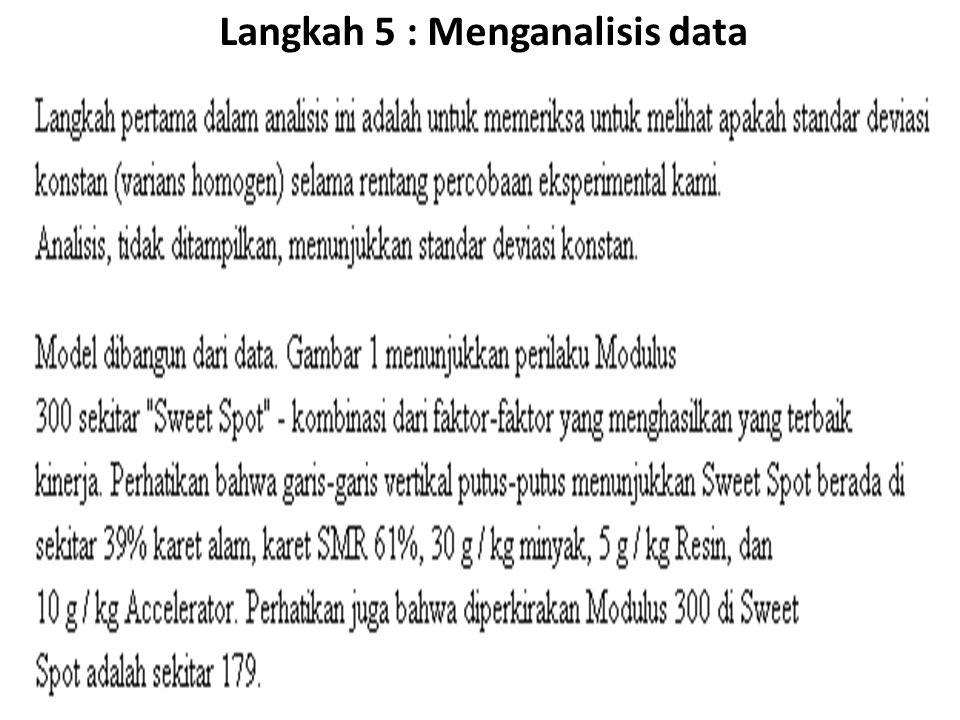 Langkah 5 : Menganalisis data