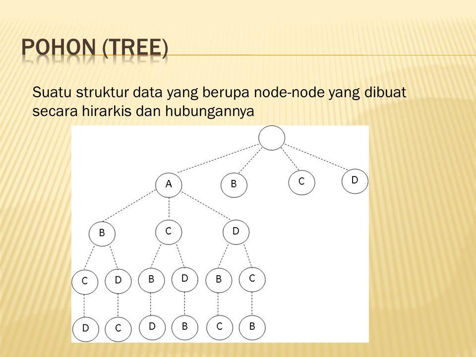 Suatu struktur data yang berupa node-node yang dibuat secara hirarkis dan hubungannya