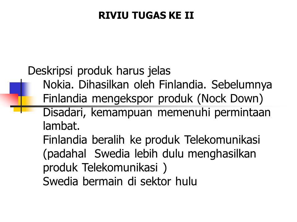 RIVIU TUGAS KE II Deskripsi produk harus jelas Nokia.