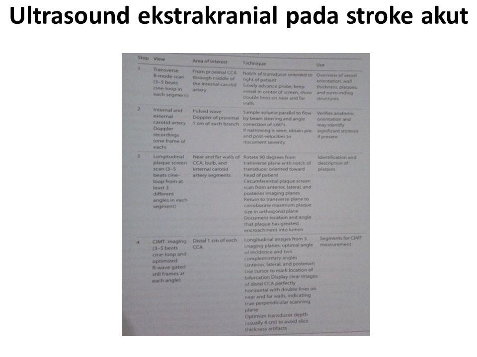 Ultrasound ekstrakranial pada stroke akut